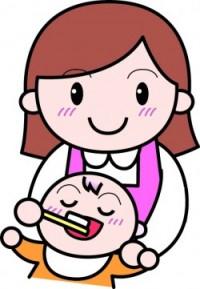 赤ちゃんの仕上げ磨きのイメージ