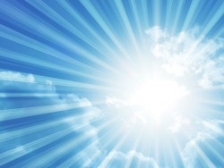 紫外線が強い真夏日のイメージ