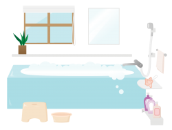 綺麗なお風呂のお湯を使える