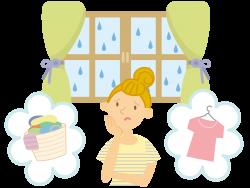 梅雨や冬場など洗濯物が乾きにくい季節こそ夜洗濯
