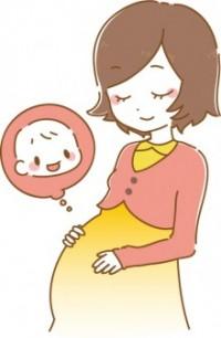 妊婦さんと赤ちゃんのイメージ