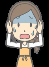 耳垢が湿っていてガクブルする女性