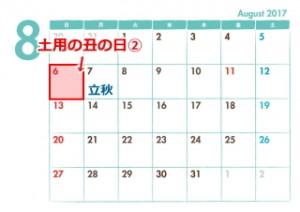 2017年夏の土用の丑の日・二の丑は8月6日!