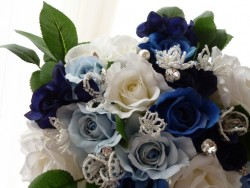 青バラのブーケの写真