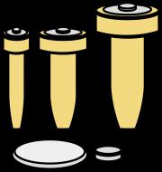防犯ブザーには主に、単4電池かボタン電池が使われている