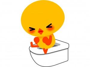 1日に何回もトイレいくのに、膀胱炎だととっても辛い・・・
