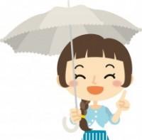 熱中症対策には、直射日光を避けられる日傘も有効!