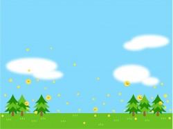 晴れの日のスギ花粉のイラスト