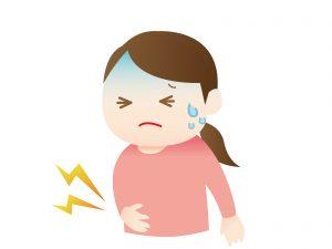 腹痛、嘔吐、下痢などの食中毒症状が・・・