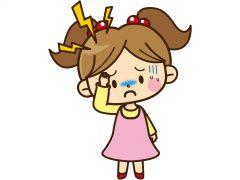下の娘は急に頭痛の訴え