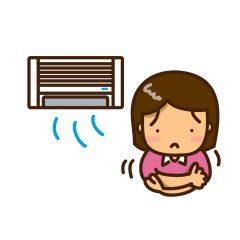 エアコンが寒い女の子