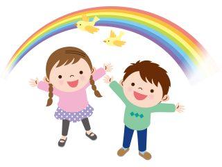 日本ではやっぱり7色の虹