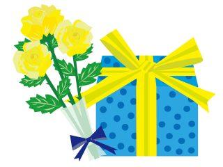 父の日に黄色いリボンを添えて贈り物しようというキャペーン